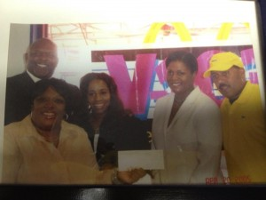 Frank Ski & Wanda Smith of V-103. Hezekiah Sistrunk and Audrey Tolson of  The Cochran Firm present a donation to MARDS